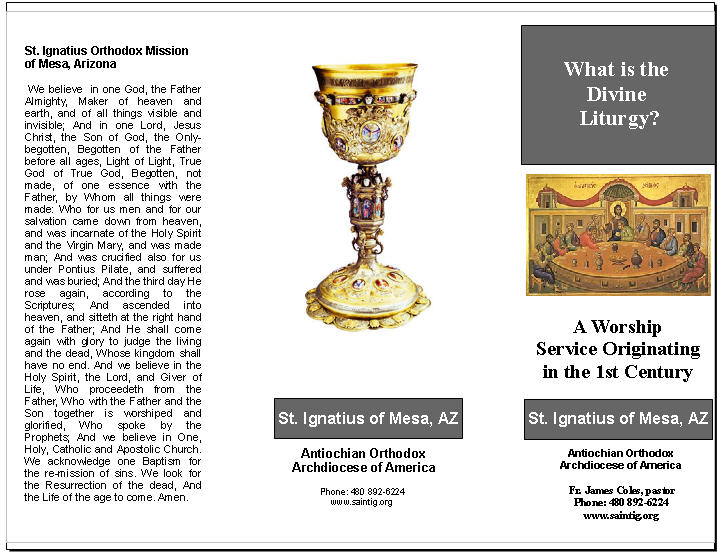 Orthotracts Divine Liturgy